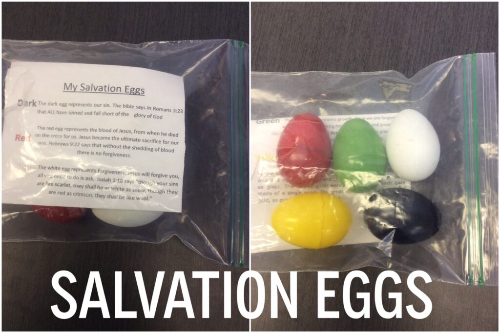 salvation eggs and printable lesson