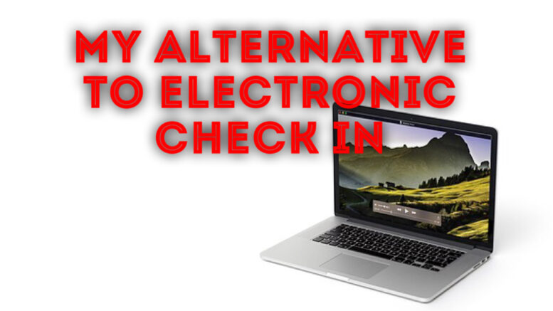 alternative to electronic check in
