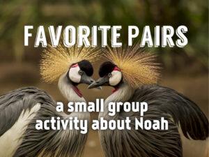 favorite pairs an activity about noah
