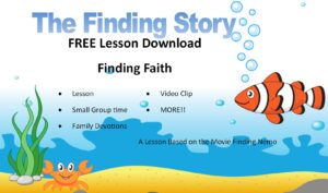 finding faith : a free kids ministry lesson download based on Finding Nemo