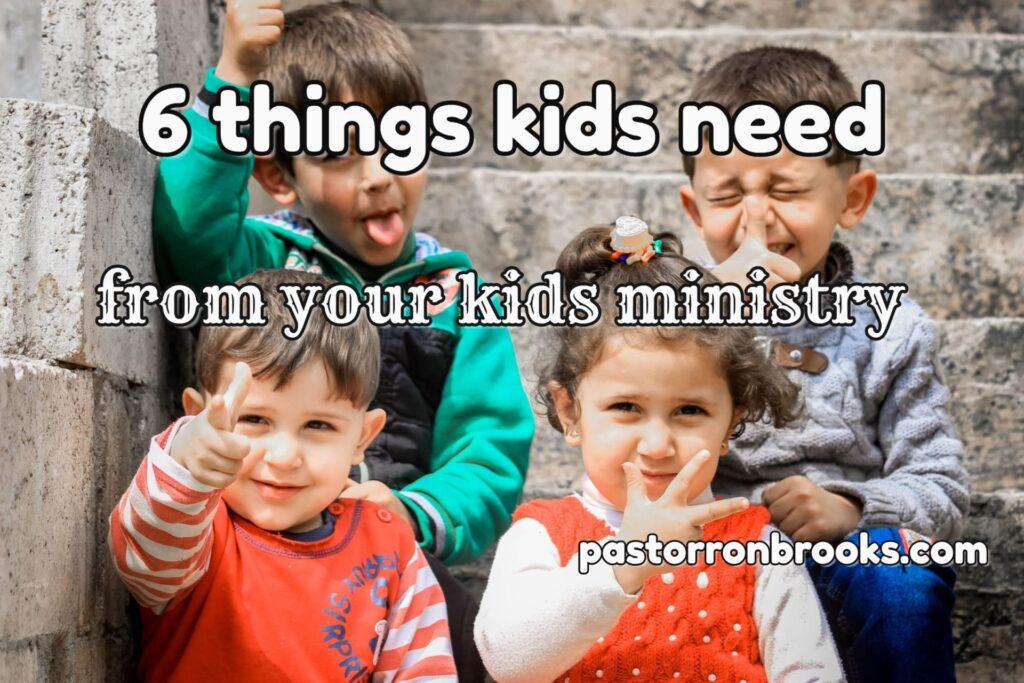 6 things kids need