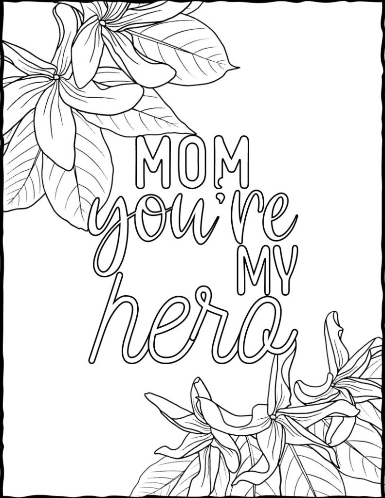 coloring pages for mothers