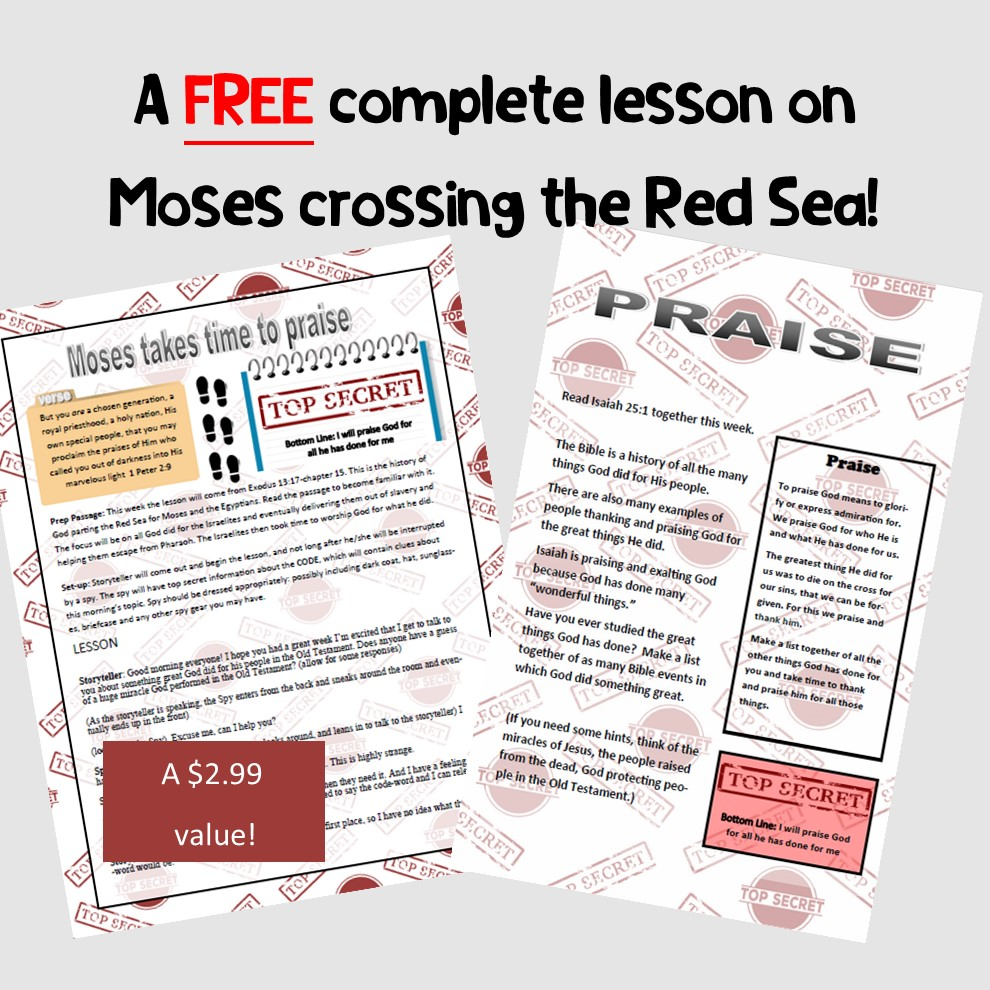 Moses parting the red sea lesson for kids
