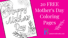 set of 20 FREE coloring pages for mother's day